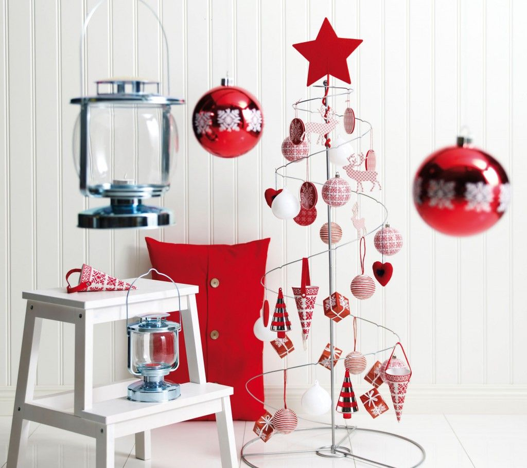 White christmas decorations to make - Red And White Christmas Decorating Ideasholiday