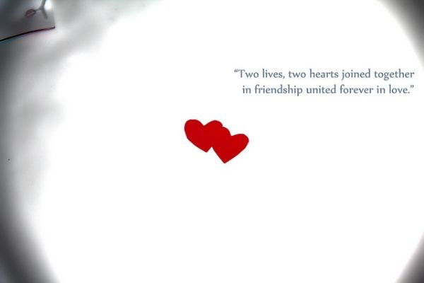 Heart Touching Quotes United Forever Two Live Life Love Quotes About