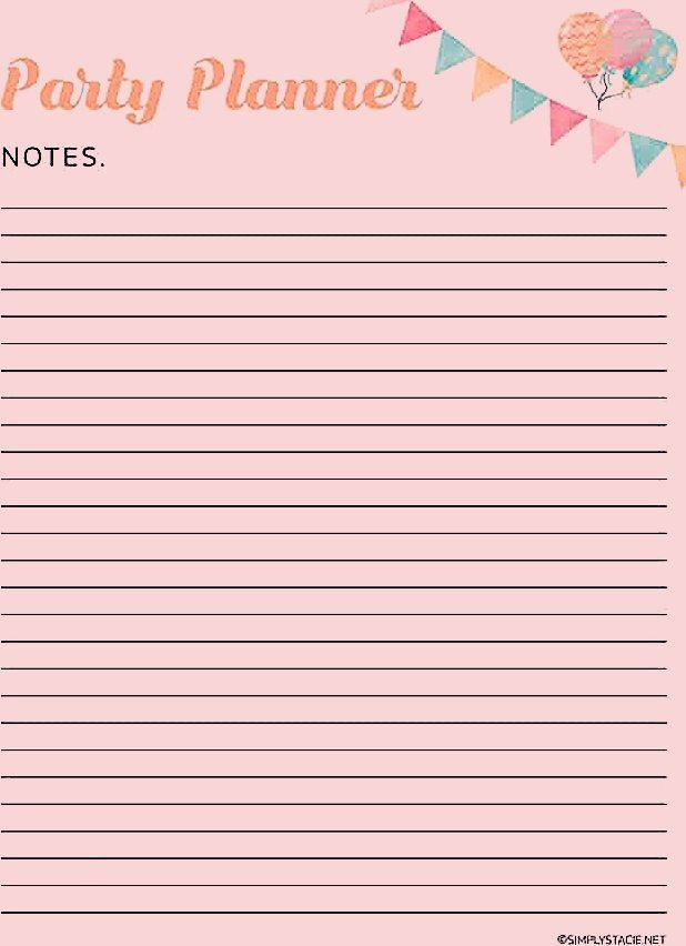 9 Free Party Planning Printables to Keep You Organized