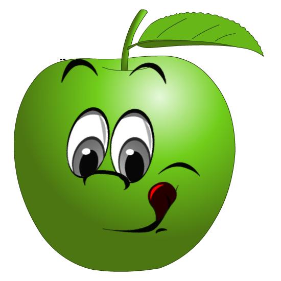 Смешные рисунки с яблоками