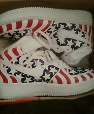 33837ef54bf Custom Nike Air Force 1 usa 4th of july size 9.5 RARE jordan kobe yeezy  lebron