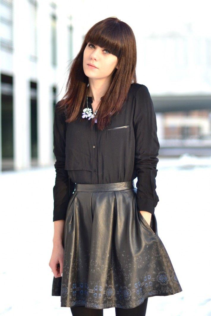 purpngreen.com leather-skater-skirt-19 #skirts   Dresses & Skirts ...