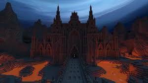 Le Château Des Enfers Minecraft Bâtiments Minecraft Architecture Minecraft
