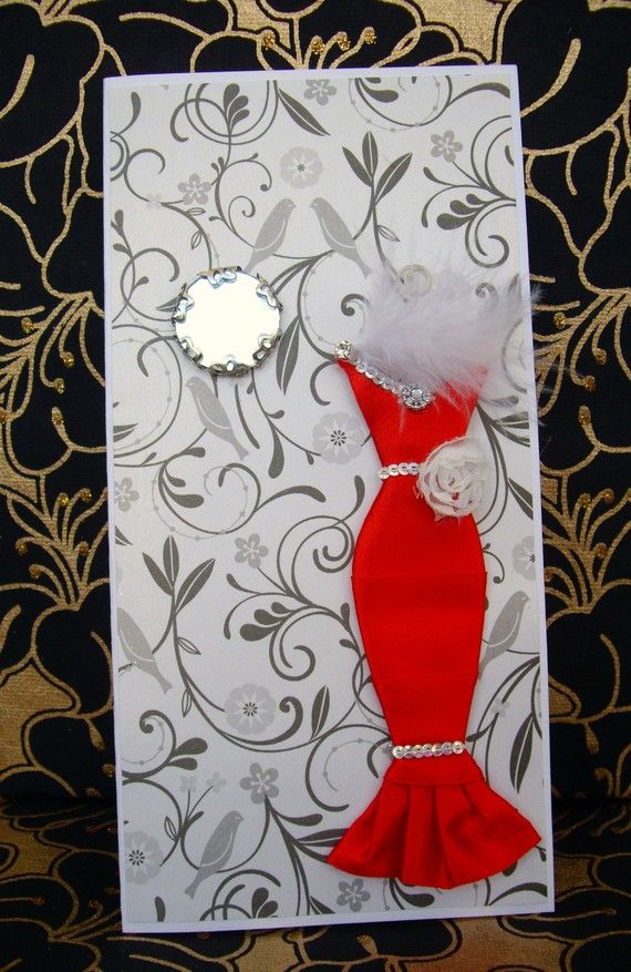Fab Ideas on 3D Greeting Card Design | Dress card ...
