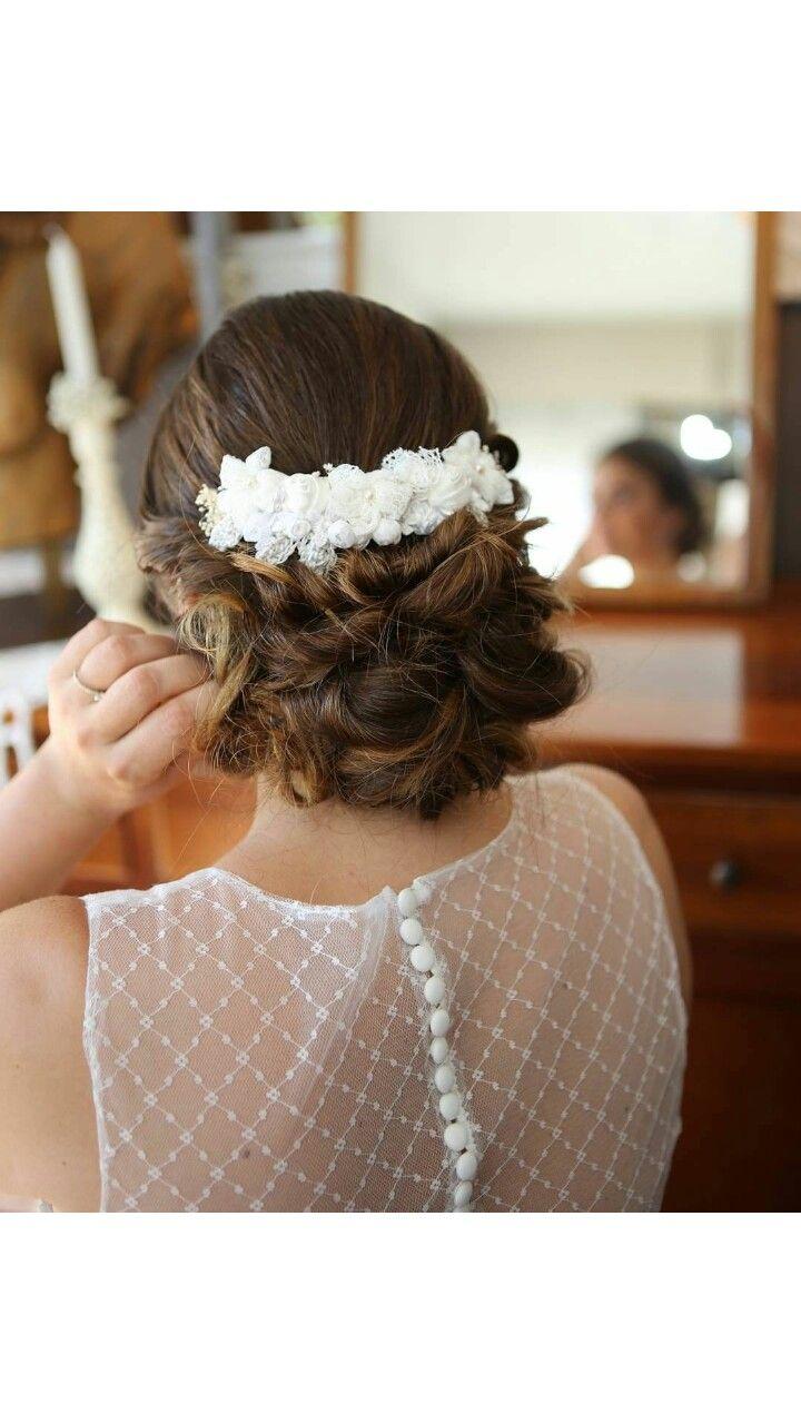 Recogido bajo desenfadado de novia