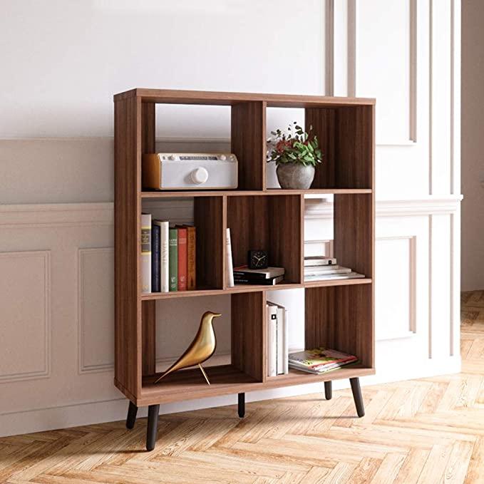 amazon bestier 7 cube open shelf bookcase vintage
