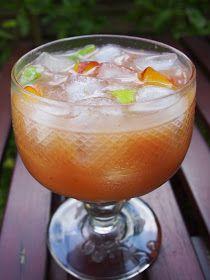 Flat peaches, lime, elderflower gin. Easy.