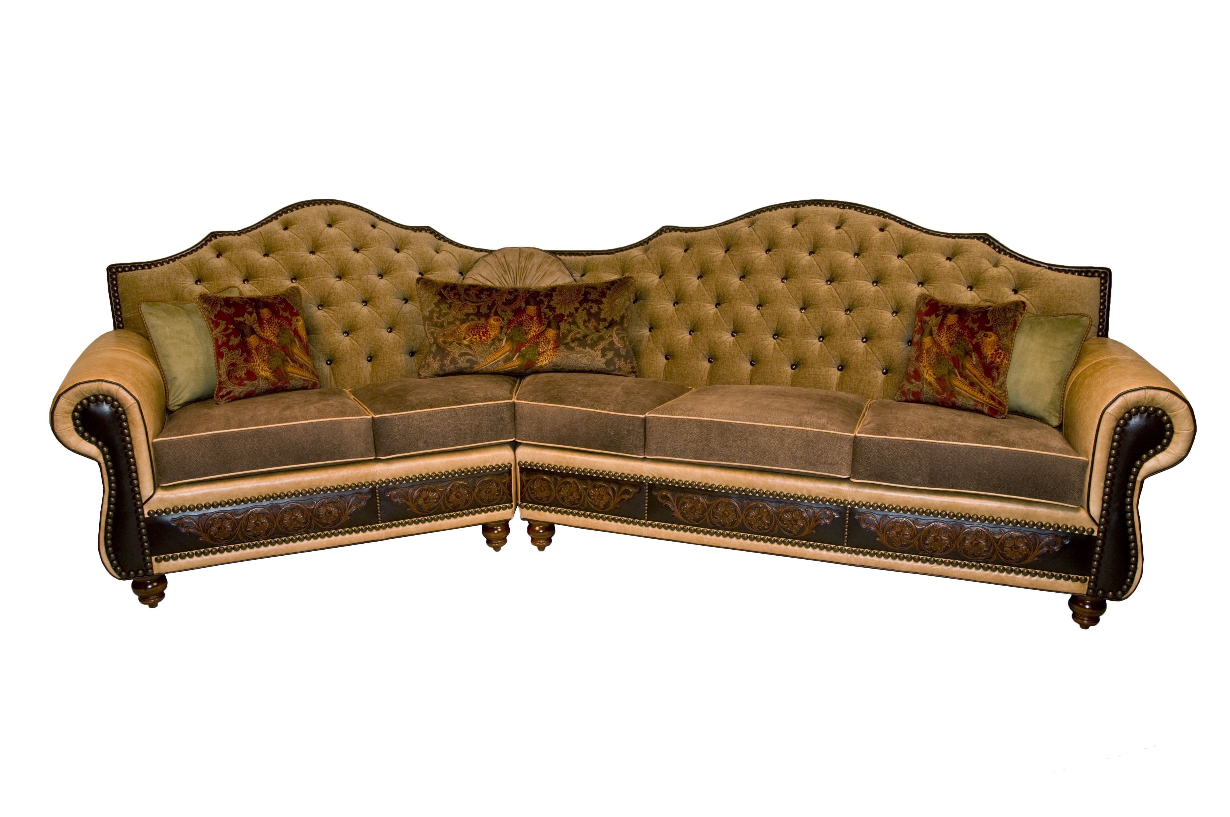 Cadillac High Back Tufted Sectional Sectionalleather Sofascadillacleather Couchesleather Sofas Uk