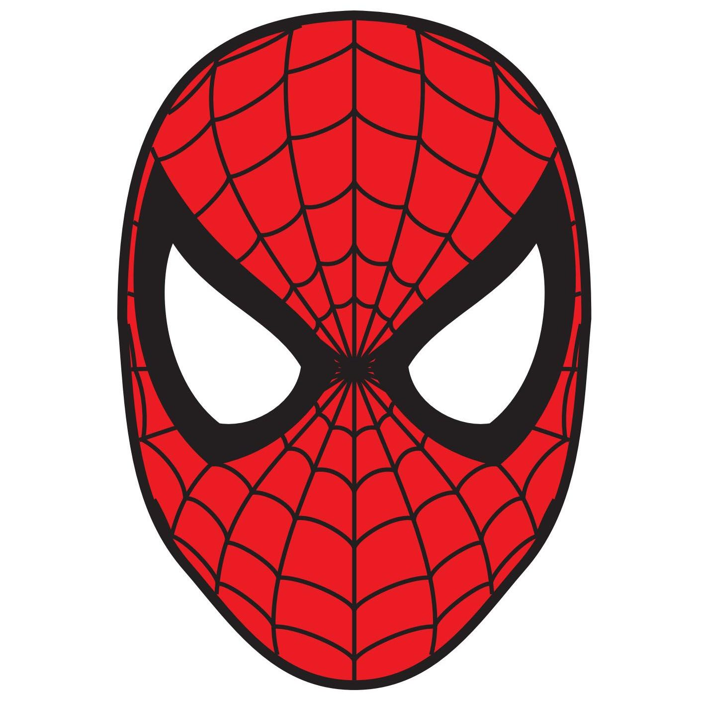 Color Spiderman Logo Spiderman face, Spiderman mask