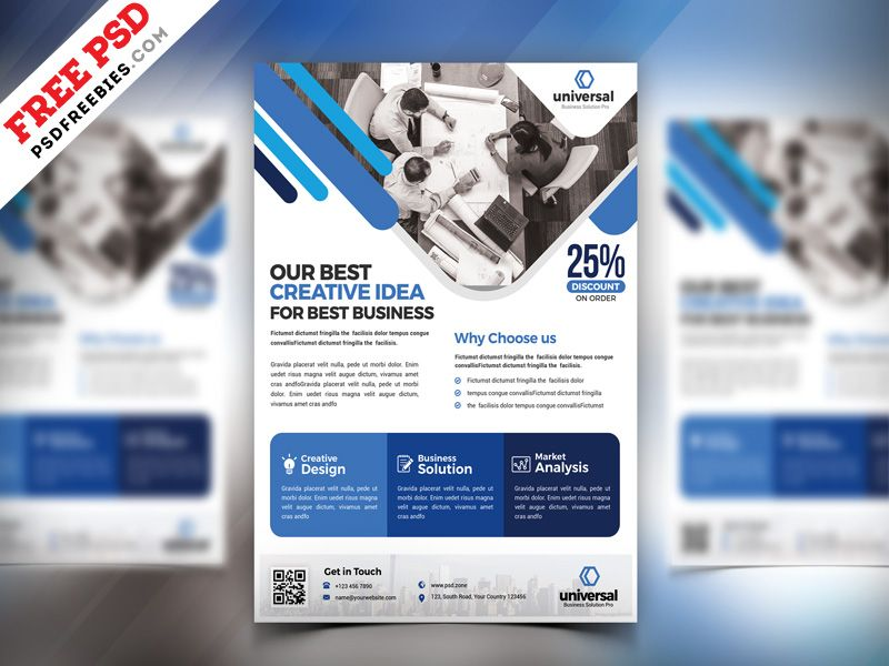 business flyer design psd free download