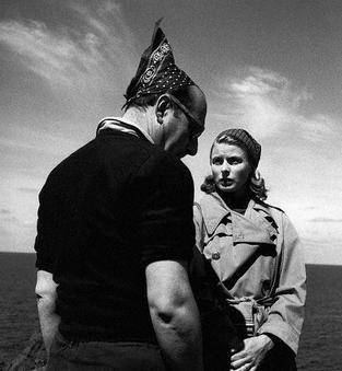 "Roberto Rossellini and Ingrid Bergman  ""Stromboli"" 1950."