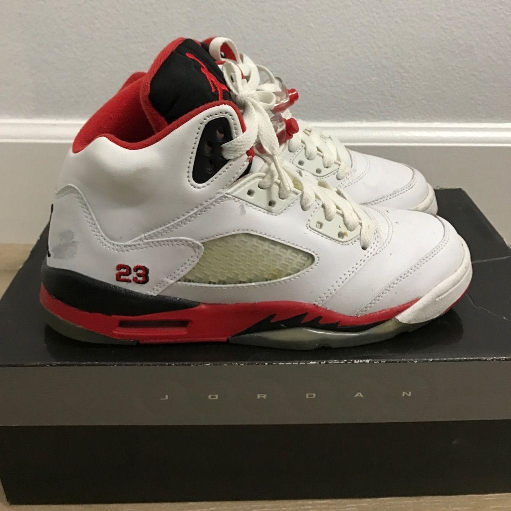 Jordan Shoes Air Jordan 5 Retro Whiteredblack Color