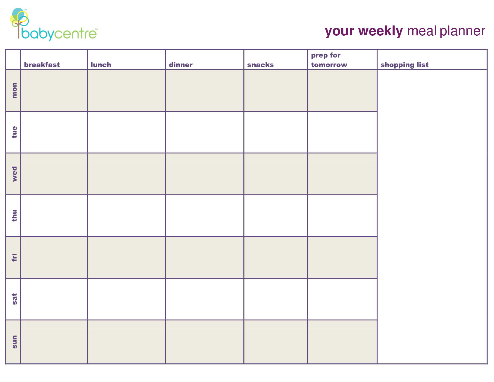 Meal Plan Template  Google Search  Coach    Meal Plan