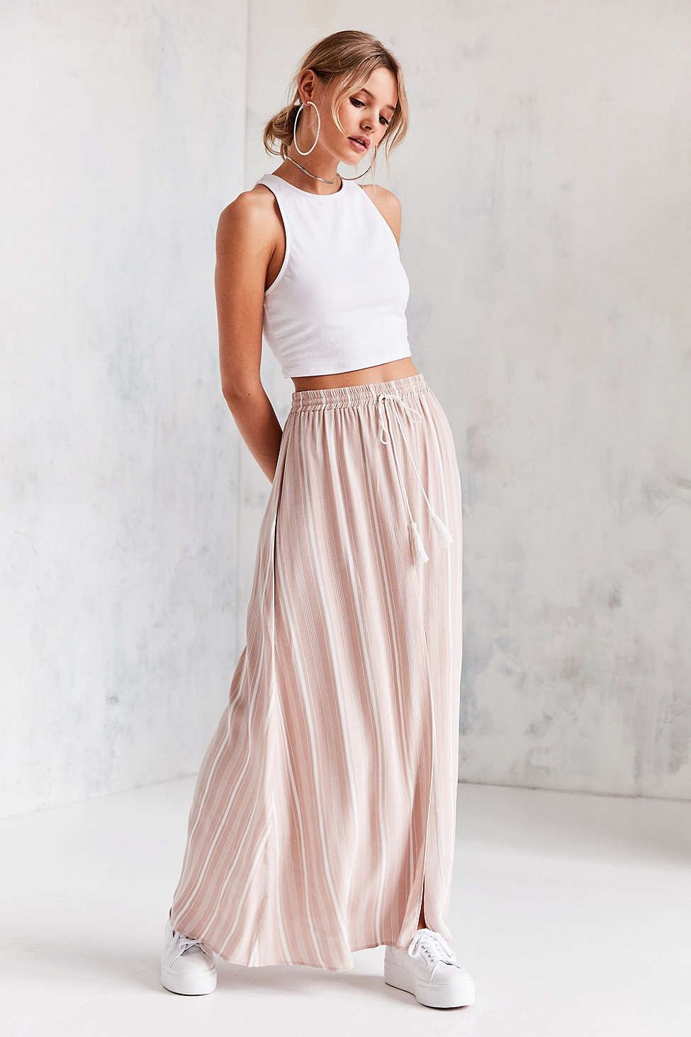 Ecote tassel tie maxi skirt clothing wish list pinterest