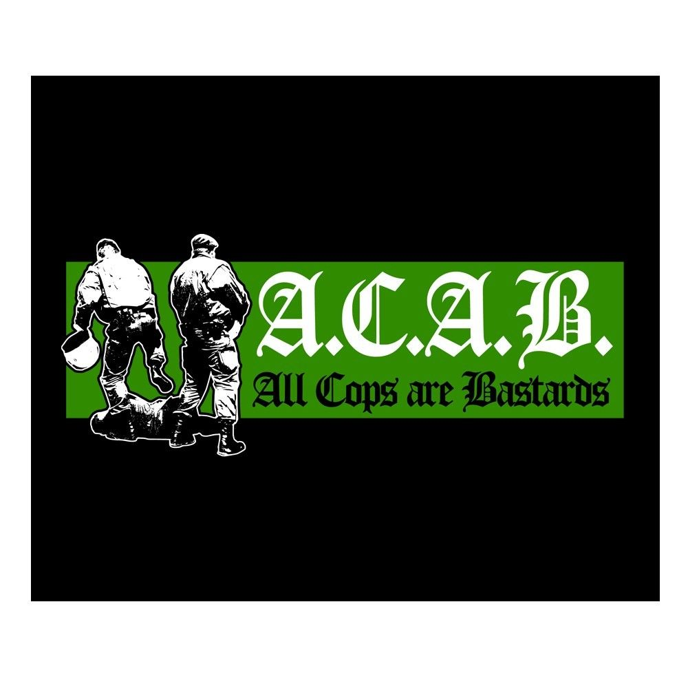 26ea20fed4452 A.C.A.B. All Cops are bastards - Backpatch | Punk rock | Punk rock ...