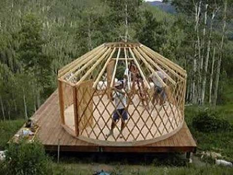 Jay Builds A House How To Build A Yurt Platform Part 8 Building A Yurt Yurt Dome House