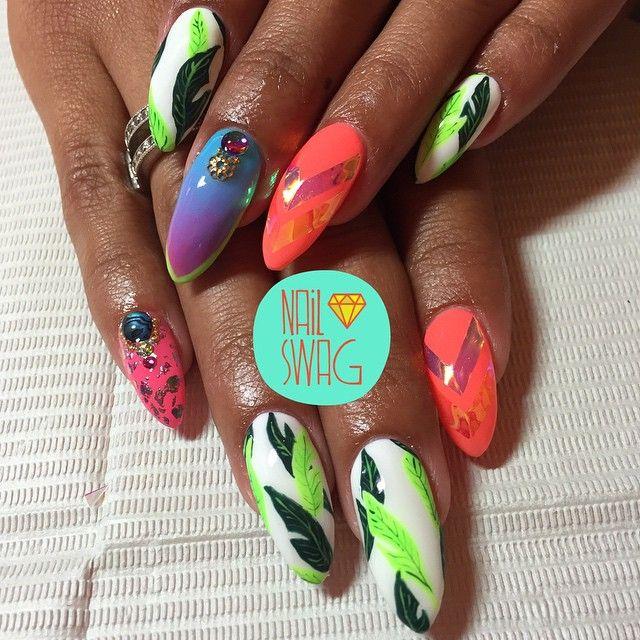"""THE MAYA RIVIERA NAIL for Graciella! #nailswag #nails #nailart #nailartclub #swag #gelnail #LA"" Photo taken by @nail_swag on Instagram, pinned via the InstaPin iOS App! http://www.instapinapp.com (06/02/2015)"