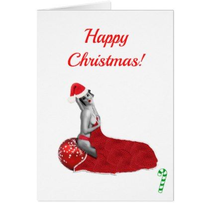 sexy pin up christmas cards