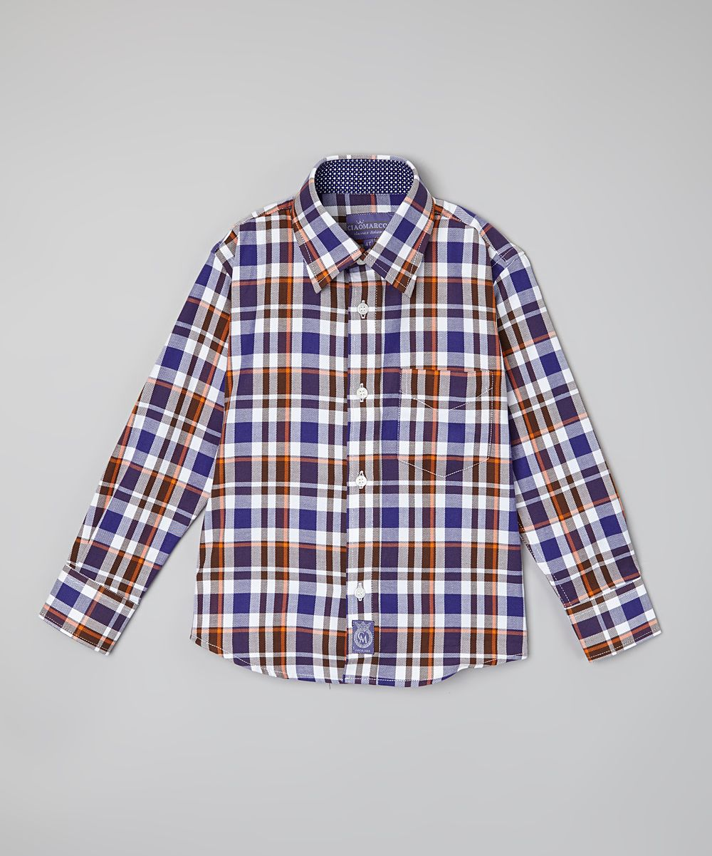 Red & Blue Plaid Button-Up - Infant & Toddler