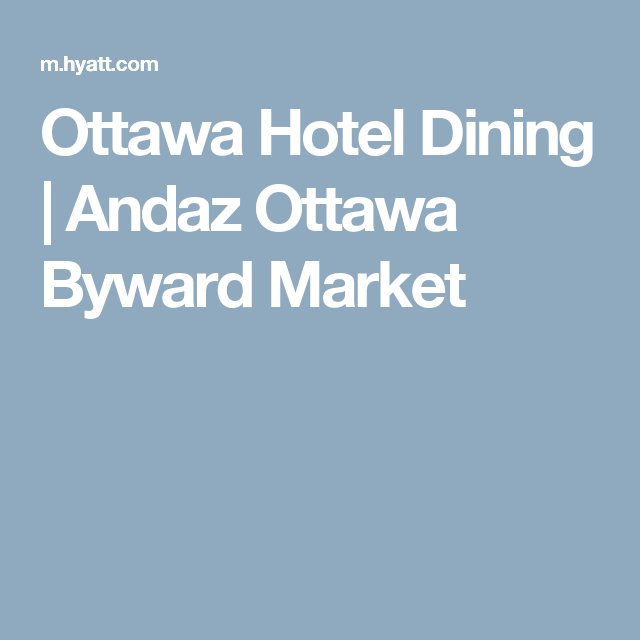 Andaz Ottawa Byward Market (With