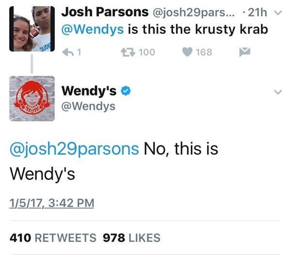 Wendys Twitter Savagery Memes Random And Stuffing - 24 hilarious comebacks wendys twitter account