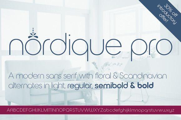 Nordique Pro Light font  @photoshoplady