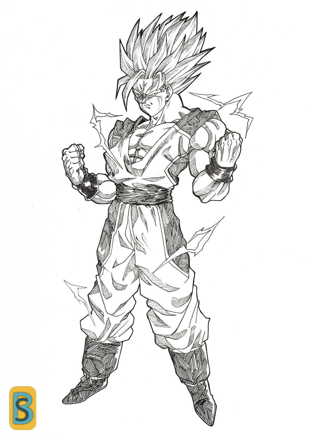 Goku Dbna Ssj2 By Bloodsplach On Deviantart