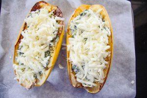 Stuffed Spaghetti Squash with Spinach & Artichoke - Divalicious Recipes