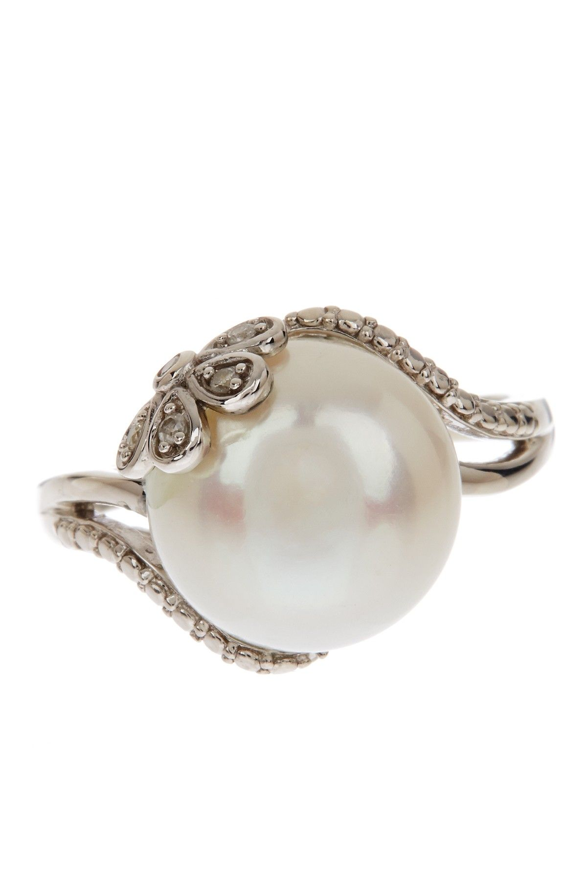 ring pearl yellow imperial gold engagement freshwater rings