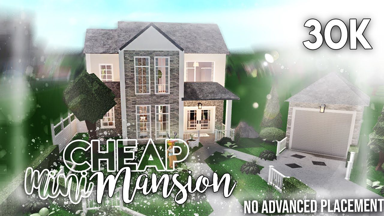 Roblox Bloxburg 30k Cheap Mini Mansion No Advanced Placement