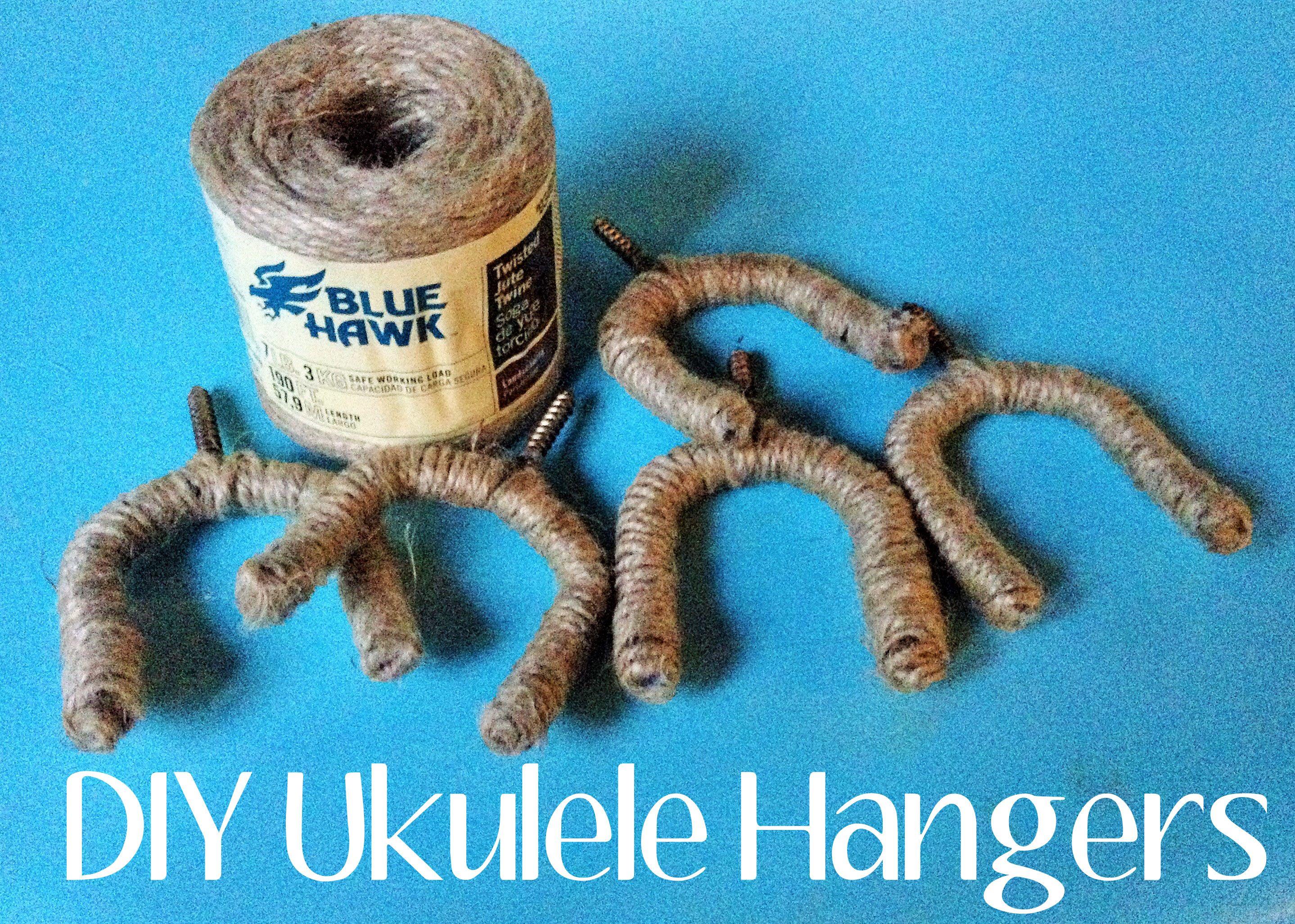 Diy Ukulele Hangers Made With Jute Guitar Hanger