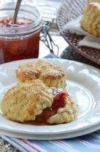 Classic Cream Scones + Peach Cobbler Jam // via culinarycovers.com (That jam!!!)