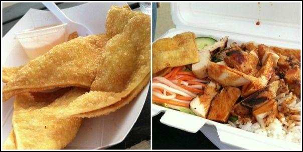 Firecracker Crab Rangoon Chicken Rice Box Heoya Food Truck Lincoln Ne Food Food Festival Eat