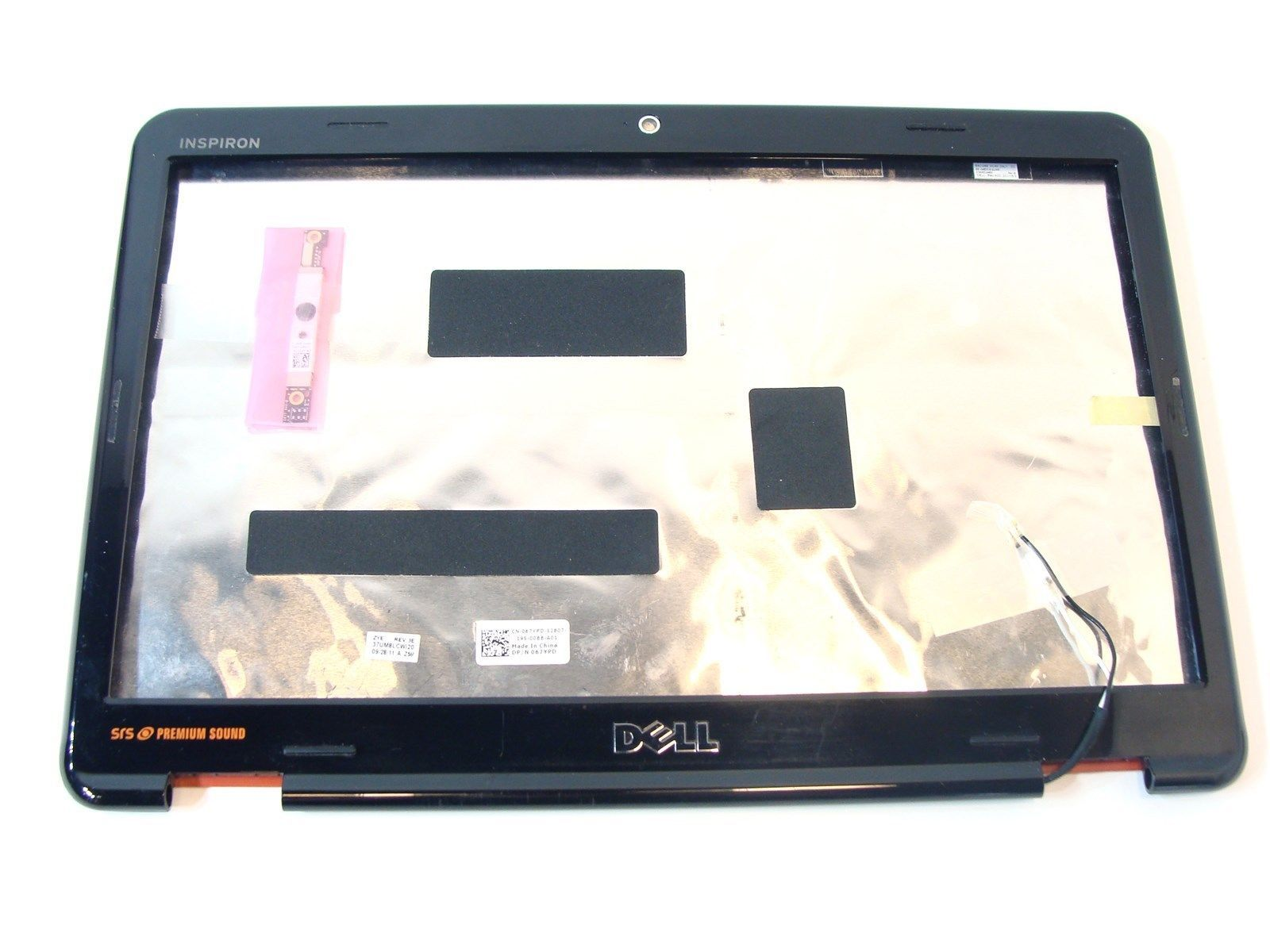 """Dell Inspiron N4010 14"""" Red LCD Rear Lid Back Cover Bezel WebCam 67YPD 067YPD"""