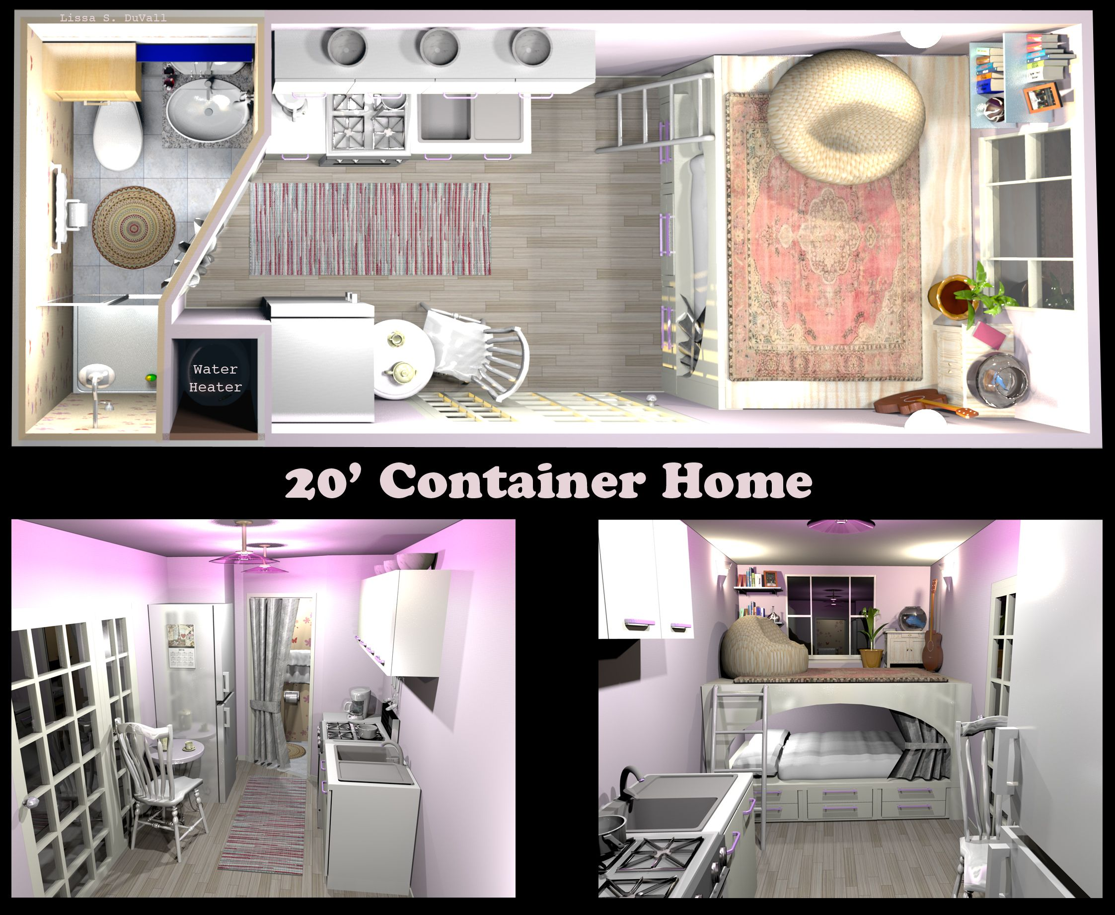 A Very Space Efficient Floor Plan For A Container Home Container Tiny House Tiny Home Freight Co Guest House Small Container House Building A Container Home