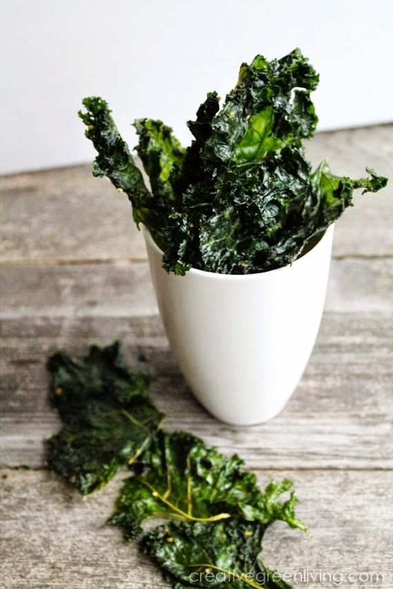 How to make kale chips in your food dehydrator - these look so good! The author says this technique makes the kale so tender it melts in your mouth.