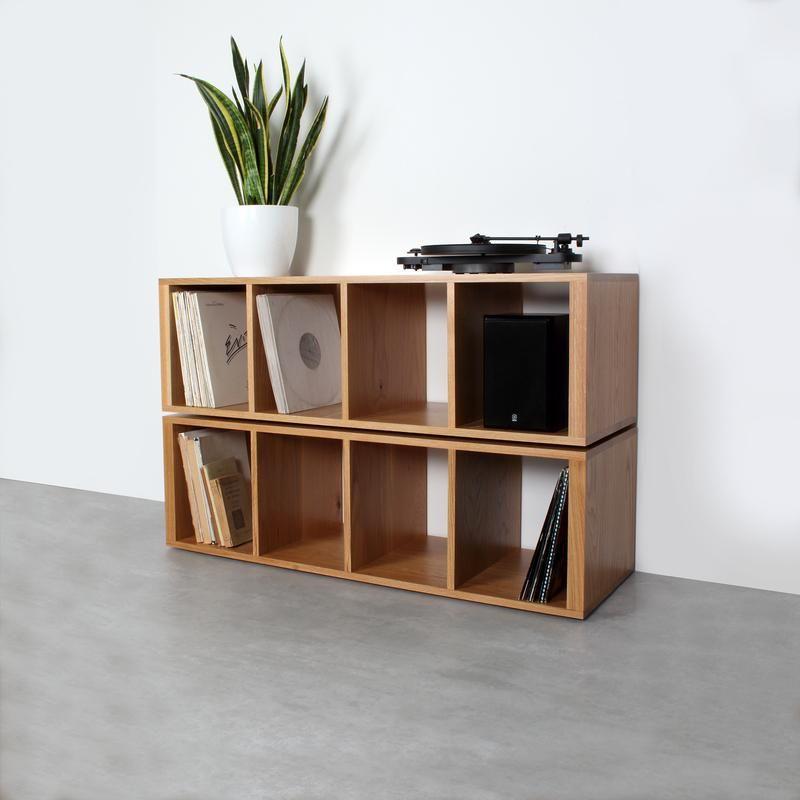 Corston Vinyl Storage Cube Shelving In 2019 Vinyl