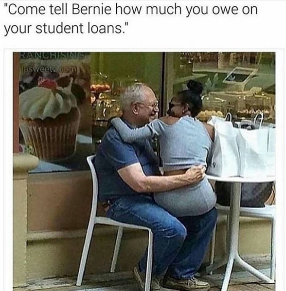 Who Did This To Bernie Sanders Savage Daddy Meme Funny Facts Funny