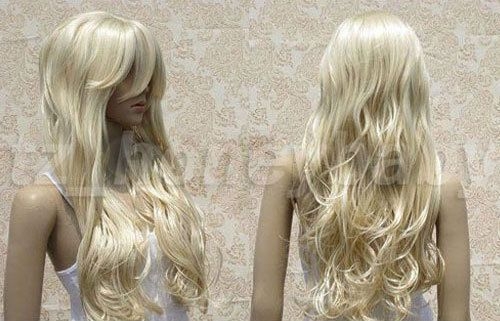 NEWJF06  Long Wavy Blonde White Lady Fashion Full Wig VOGUE Wigs for women #Unbranded #FullWig