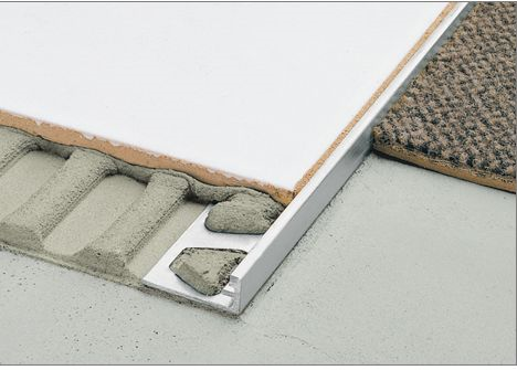 Recessed Metal Transition Strip Schluter Strip Carpet To Tile Transition Tile Edge Tile Edge Trim