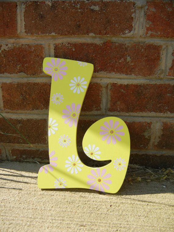 Wooden Letters Wall Art HandPainted Wall Art by TiffanysLetters ...
