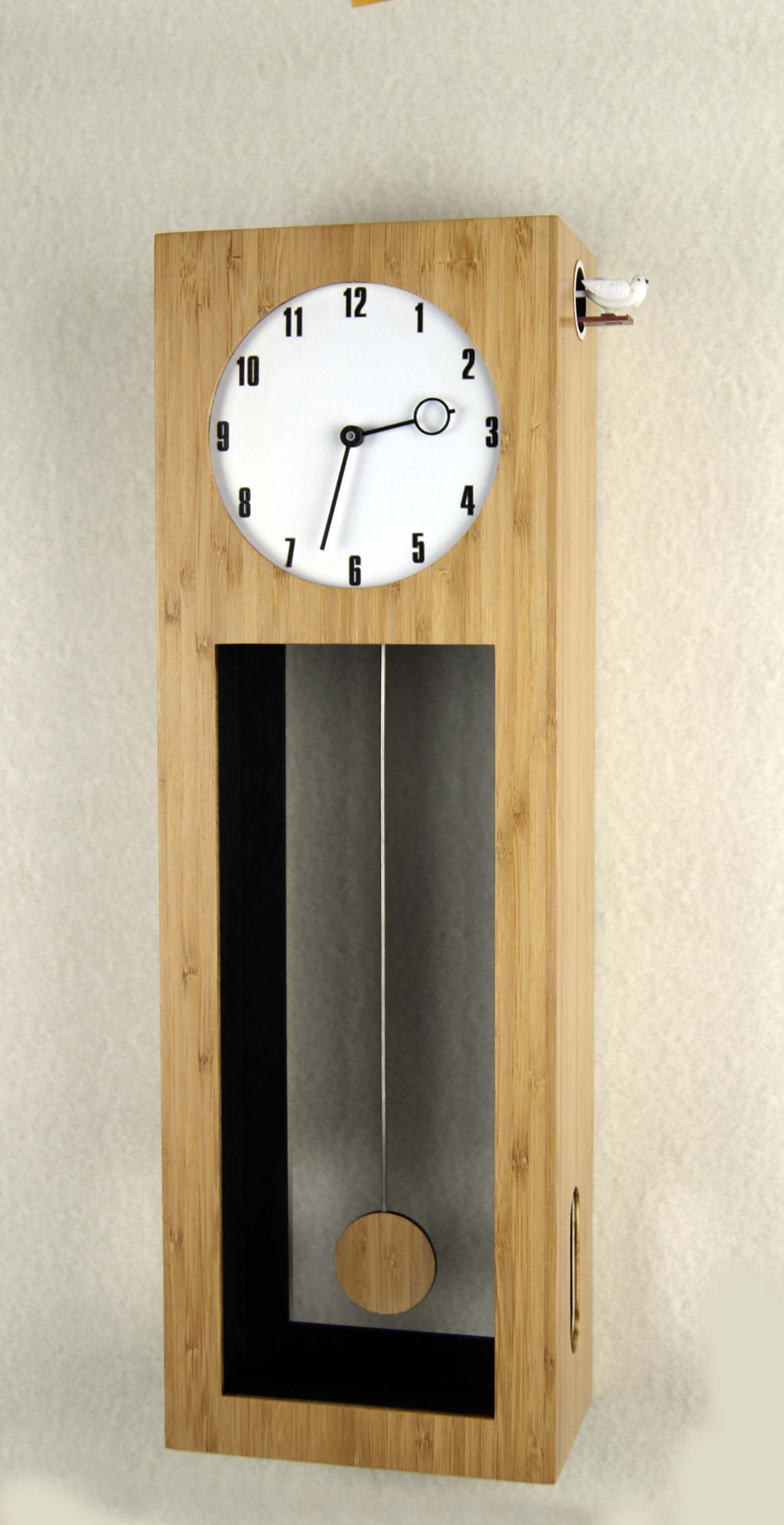 Bamboo Cuckoo Clock Height 19 6 Inches Etsy In 2020 Clock Cuckoo Clock Cuckoo