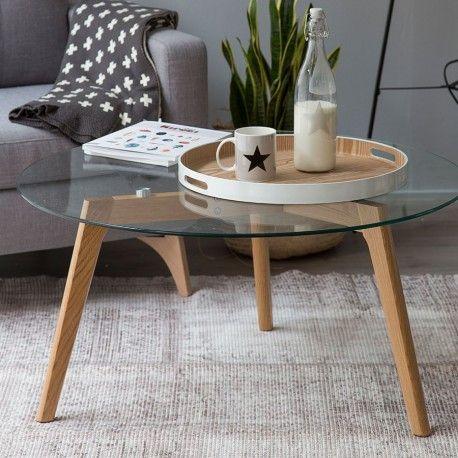 Skan mesa de centro de vidrio ideal house townhouse and tables - Mesas de centro de vidrio ...