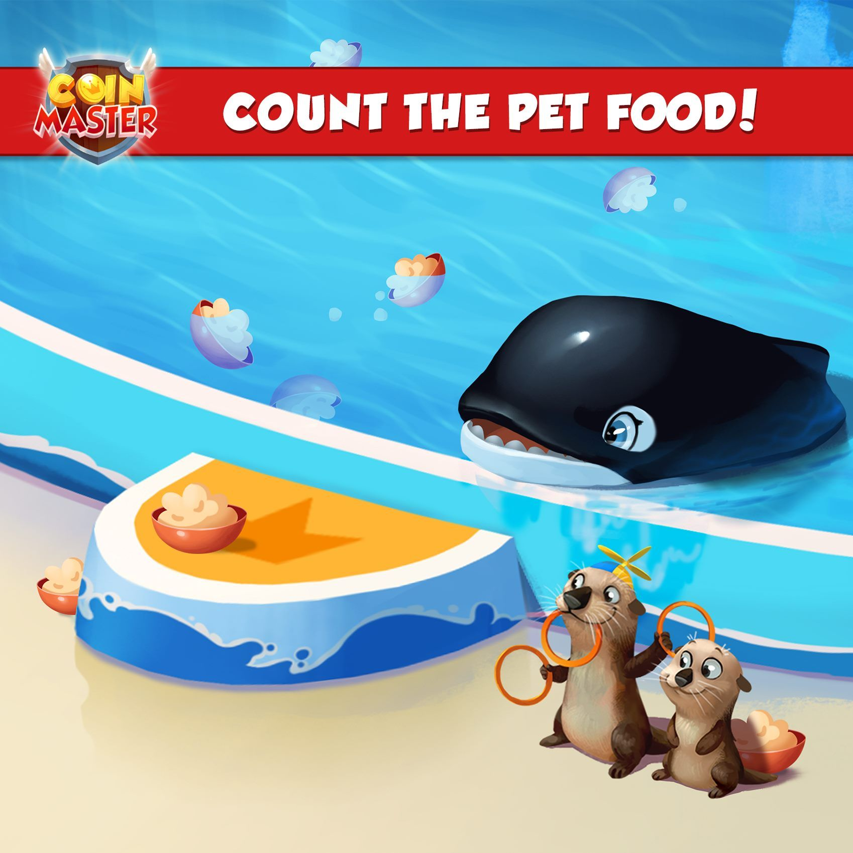 Coin master ready for a challenge count all the pet food