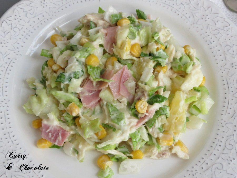 Ensalada hawaiana de pollo con mayonesa easy chicken - Comidas con pollo faciles ...