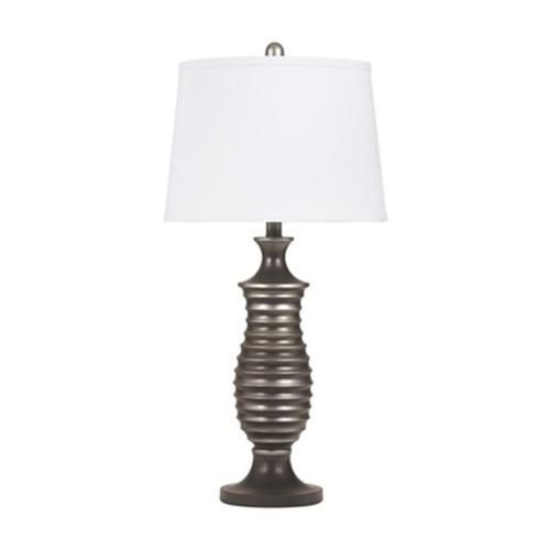 Ashley L202904 Rory Metal Table Lamp Antique Silver
