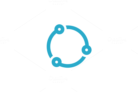 Circle Tech Logo Template by Rekisaurus on @creativemarket ...