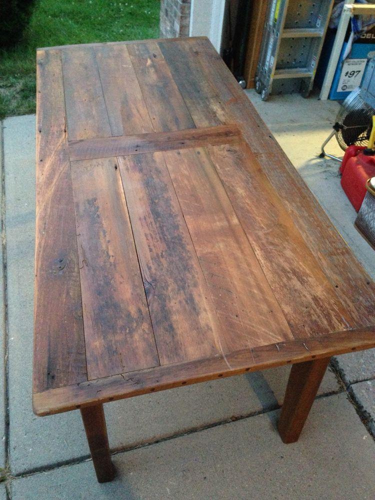 Antique Farm Table 100 Year Old Indiana Barn Wood on ebay