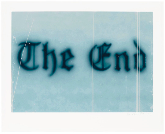 Ed Ruscha American B 1937 The End 8 1993 Artist Quotes Mood Colors Text Art