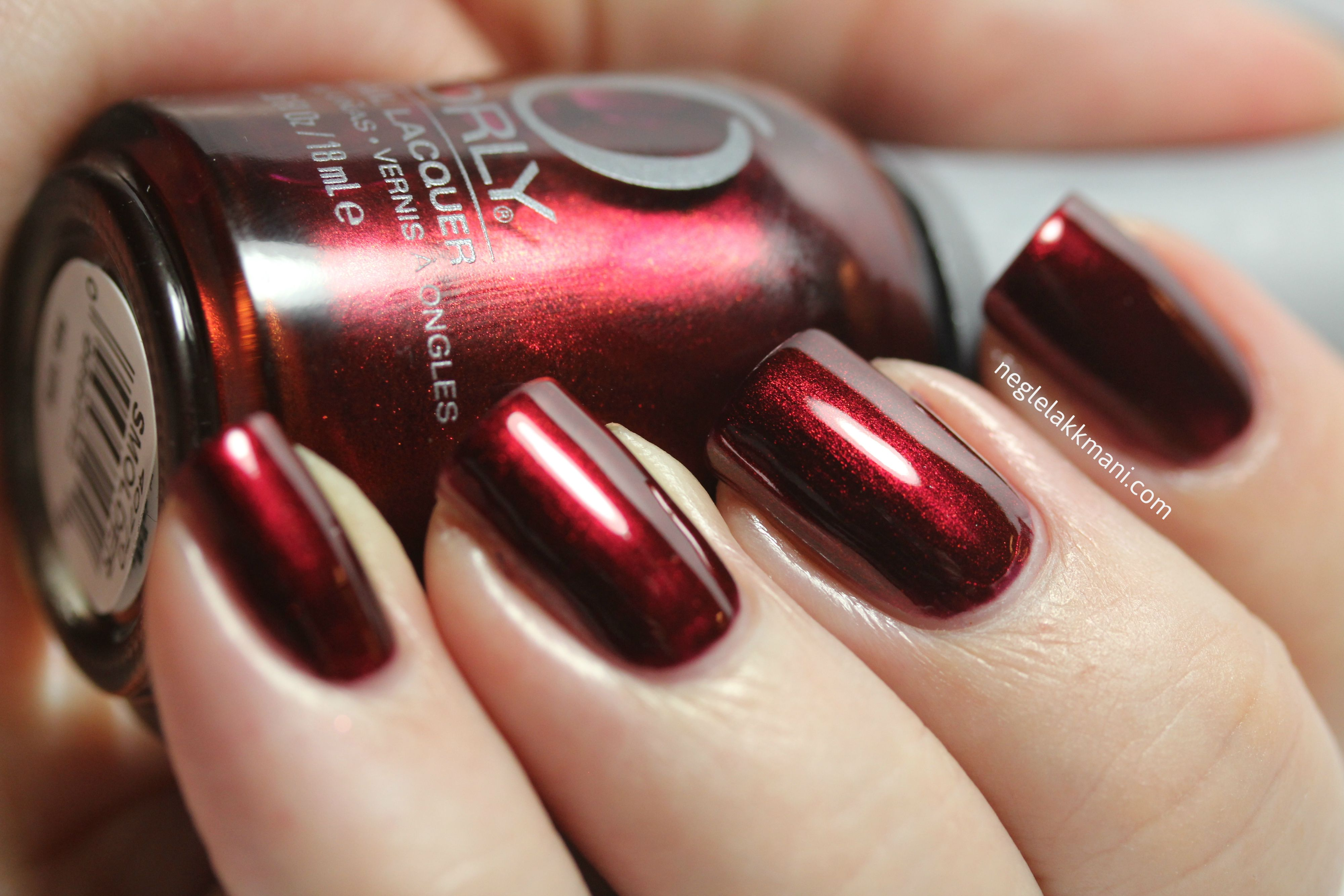 oxblood red nail polish orly in smolder